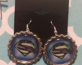 Seattle Seahawks Superbowl Champs,  Seahawk, 12th Man Seahawks, Seattle Seahawks, Bottle Cap Earrings