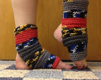 Yoga Socks in Great Britain Tapestry Acrylic -- for Dance, Yoga, Pedicures, Pilates.