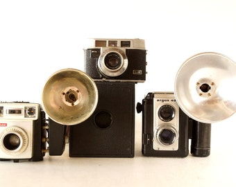 Vintage Camera Collection - Kodak Box Camera, Starmatic, Automatic 35mm and Argus 40 (c.1950s) - Instant Camera Collection