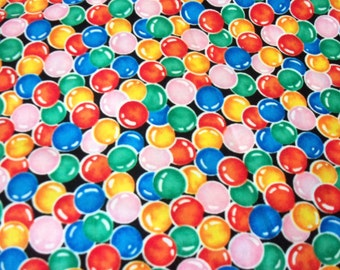 Gumball Fabric Colorful  By The Fat Quarter New BTFQ
