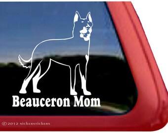 Beauceron Mom | DC892MOM | High Quality Adhesive Vinyl Beauceron Window Decal Sticker
