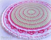 CROCHET PATTERN - Baby Love - a crochet baby blanket pattern with linked hearts, heart afghan, heart blanket pattern - Instant PDF Download