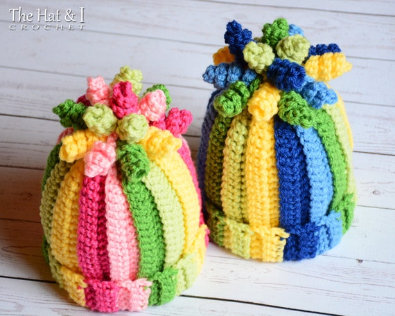 CROCHET PATTERN - Tutti Frutti - a crochet hat pattern, colorful hat in 5 sizes (Infant, Baby, Toddler, Child, Adult) - Instant PDF Download