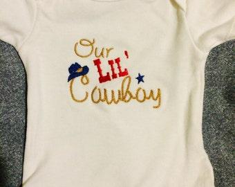 Our Lil Cowboy onesie