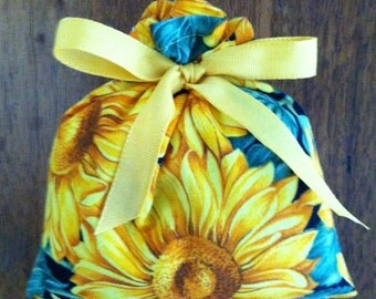 Provence Sunflowers Dried French Lavender Sachet Pillow (#12)