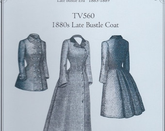 TV560 - Truly Victorian #560, 1880s Late Bustle Coat Sewing Pattern
