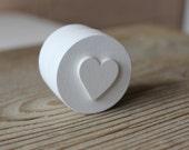 Ring Bearer Box / White Wooden Box / Little Round Ring Box / Proposal Ring Box / Engagement Ring Box