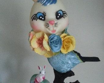 Handmade Bunny Birds - art