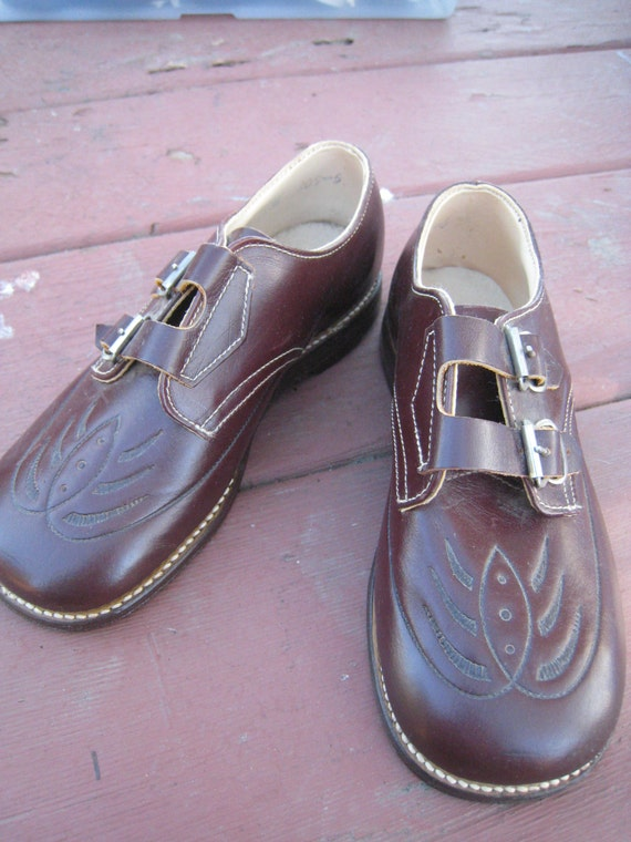 Vintage NOS Childrens Leviathan Leather Shoes Found in a Time Capsule Department Store