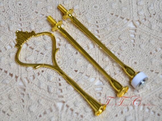 Tidbit Cakestand Handle Style 1 GOLD Finish Fitting Hardware Buy 3 get one FREE