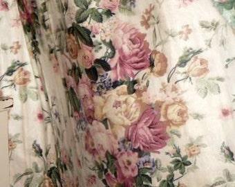 Vintage Rose Chintz Fabric. Cyrus Clark * Walton Pattern* Shabby Chic