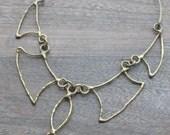 Vintage Metal Choker Necklace