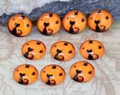 Circle Orange Black Cat Handmade photo glass cabochon dome 10mm 12mm 14mm 16mm 18mm 20mm 25mm 30mm For Earring Brooch Ring Bracelet Necklace