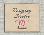 Custom Listing - Resizing Service