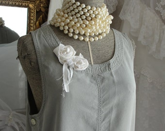 Dress, mori girl, jumper with roses and ribbons