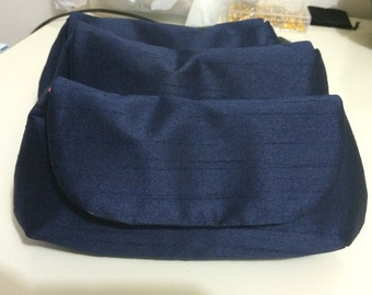 Bridesmaid Clutches - Navy Blue - Choose your favorite lining color
