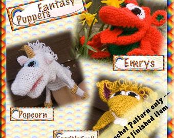 PDF Crochet Pattern Fantasy Puppets