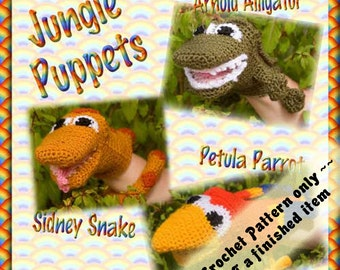 PDF Crochet Pattern Jungle Puppets