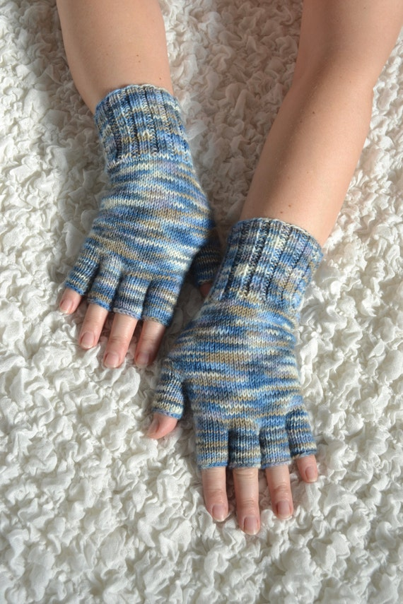 Free Knitting Patterns Gloves Half Fingers : Hand-knitted half finger gloves handmade wool gloves knit