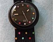 "Polka Dot Swatch ""Pop"" Series Watch"