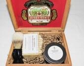 Motor Oil Scented Cigar Box Deluxe Shave/Shaving Set Kit - A Fuente Best Seller