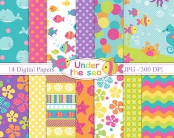 Under the Sea  - Digital paper set