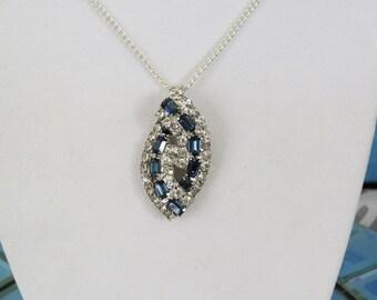 Vintage Rhinestone Necklace...Upcycled...Repurposed Vintage...1960s