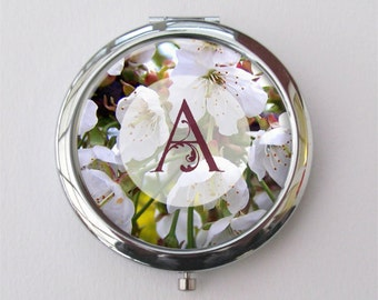 Personalized Compact Mirror, Custom Monogram Mirror, Purse Mirror