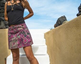 Wrap around mini skirt/INDIA