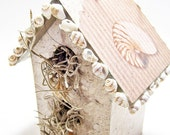Beach Shells Mini Birdhouse Decoupage