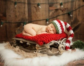Christmas Elf hat baby stocking hat Baby First Christmas