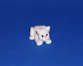 Polymer Clay White Cat