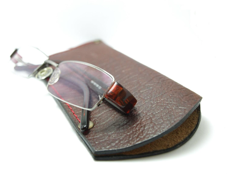 eyeglasses sleeve holder reading glass covers in brown