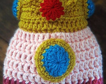 Super Mario Bros. Princess Peach Crochet Hat