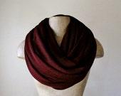 DARK RED Scarf - Chunky Infinity Scarf - Oversized Knit Scarf - Fashion Scarf - Circle Scarf - Winter Scarf