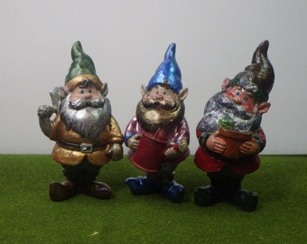 Best Dressed Gnome Gents Set of 3 for Fairy Garden or Dollhouse Fun