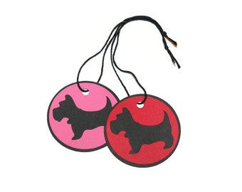 Scottie dog tags - set of 20 (2.5 in.) - You choose your colors (C72)