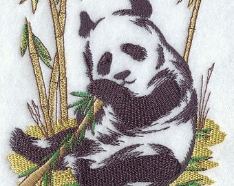 Paint stroke Panda Embroidered Flour Sack Hand/Dish Towel