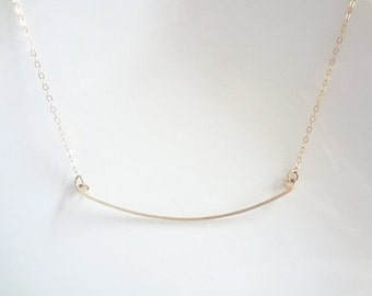 Bar Necklace, Gold Filled, Sterling Silver, Chain, Minimalist, Weddings, Bridemaids, Handmade Jewelry, Jewellery
