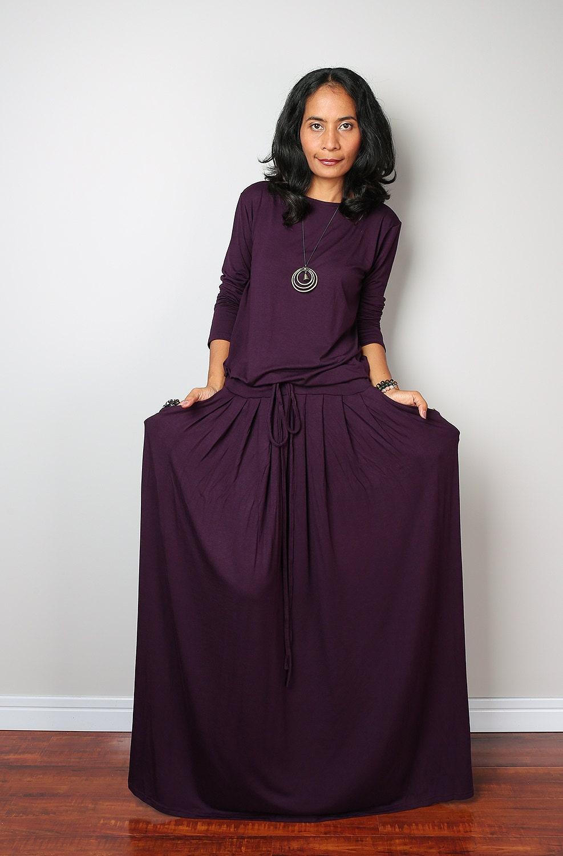 Purple maxi dress - Etsy