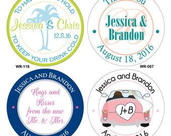 180 1.5 inch Custom Glossy Waterproof Wedding Stickers Labels - hundreds of designs to choose from - change designs to any color or wording