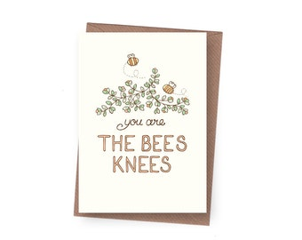 SALE Bees Knees Greeting Card