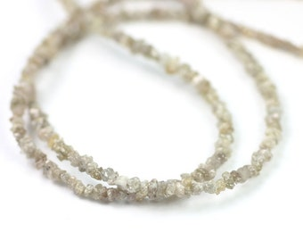 Diamond Rough Beads 10 Light Brown Latte Natural Chip Beads Conflict Free Precious Gemstone April Birthstone