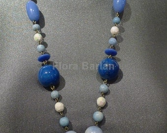 necklace glass beads vintage