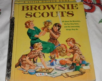Vintage A Little Golden Book Brownie Scouts by Lillian Gardner Soskin an A Edition