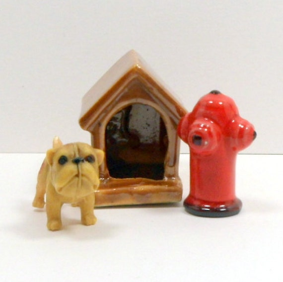 Vintage Dollhouse Miniatures Dog Dog House By CollectMemories