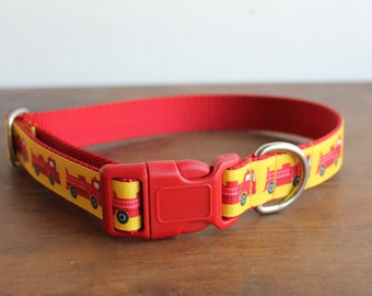 "Firefighter Dog Collar, 1"" wide"