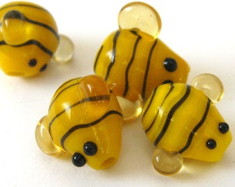 Yellow Bumble Bee Beads E255