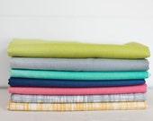 Color Theory Ombre and Texture Fabric Bundle -  Half Yard Bundle - 7 half yard pieces (B311)