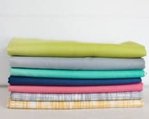 Color Theory Ombre and Texture Fabric Bundle -  Half Yard Bundle - 7 half yard pieces (B311)